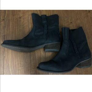 Gacel Womens Leather Mid Calf Boots Size 38/8